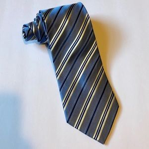 Geoffrey Beene men's blue striped tie